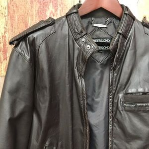 Members Only Leather Jacket M